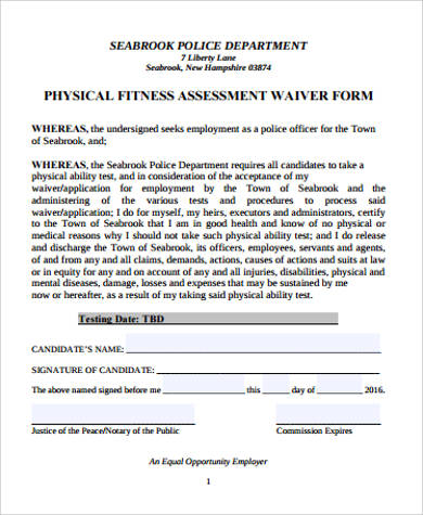 Physical Assessment Form Sample - 9+ Examples In Word, Pdf