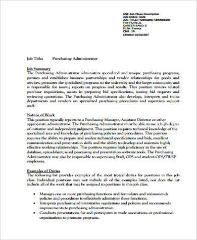 purchasing administrator job description1