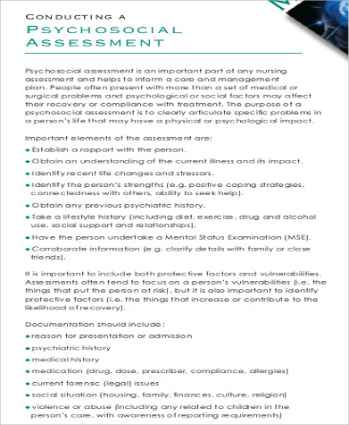 psychosocial assessment template | trattorialeondoro