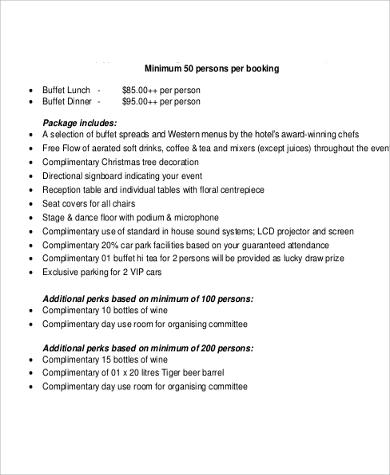 catering sales action plan