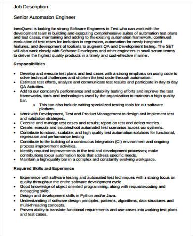 Beautiful Building Automation Engineer Job Description