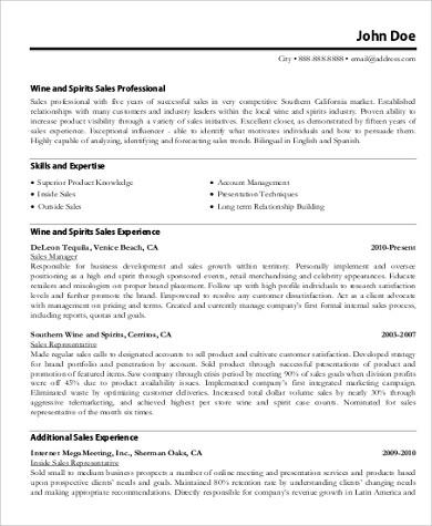sales resume pdf