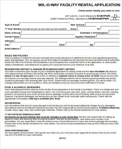facility rental application form example1