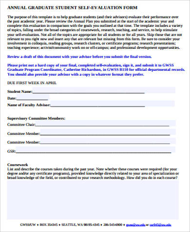 Student Evaluation Form   Examples In Word Pdf