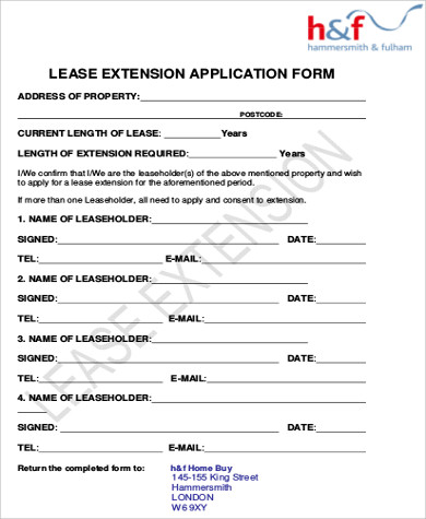 Sample Lease Application Form   Examples In Word Pdf