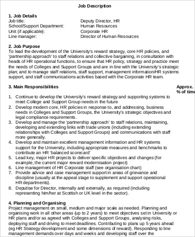 deputy hr director job description in pdf - Practice Director Job Description