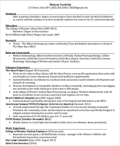 Sample Volunteer Resume  10 Examples in Word  PDF