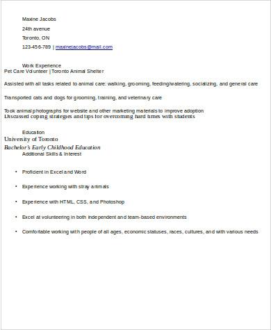Sample Volunteer Resume 10 Examples In Word Pdf