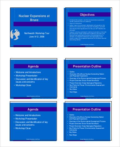 presentation agenda outline