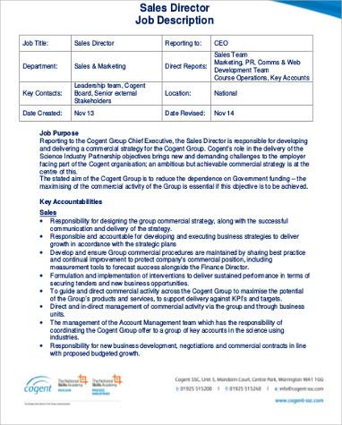 sales director job description1