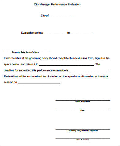 8+ Performance Evaluation Sample - Free Sample, Example, Format