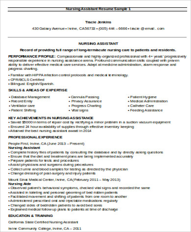 Nurse Assistant Resume Resume Format Download Pdf Resume Genius Nursing  Resume Objective Nursing Resume Objective  Objective For Nursing Resume