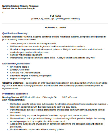 Student Nursing Resume Objective Job Interview Sitecom   Objectives For Nursing  Resumes