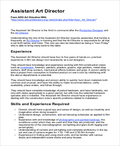 Film Director Job Description Sample - 7+ Examples In Pdf