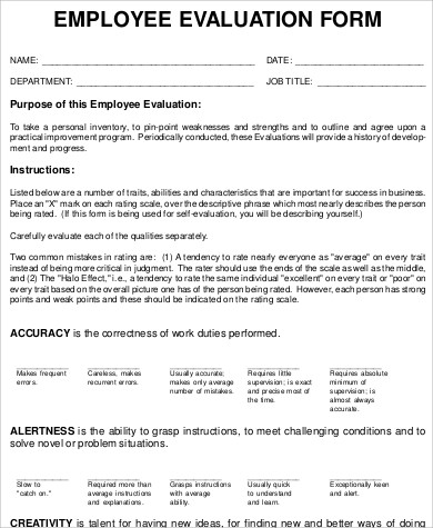 employee performance evaluation form2