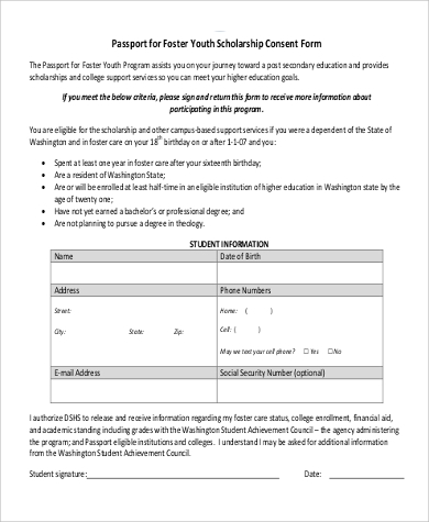 Passport Consent Form Sample   Examples In Pdf