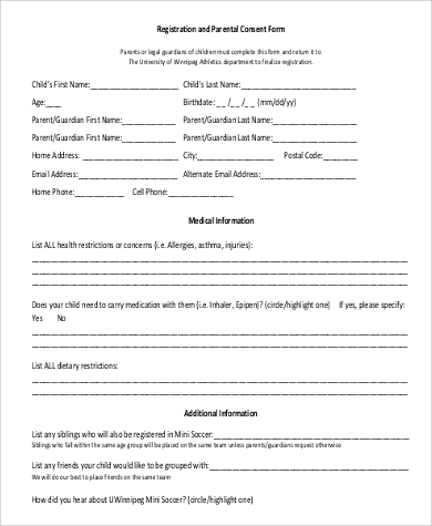 Child Travel Consent Form Power Of Attorney Form For Child Free