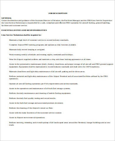 aircraft maintenance director job description1