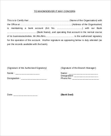 job signature verification letter