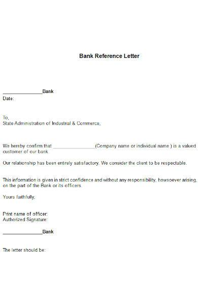 Diagram Free 11 Sample Reference Letters In Ms Word