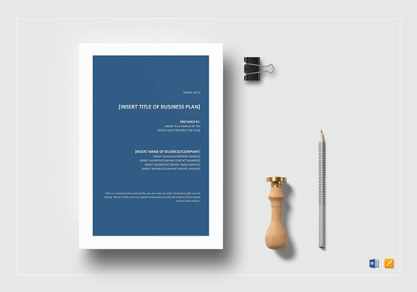 business plan outline word template