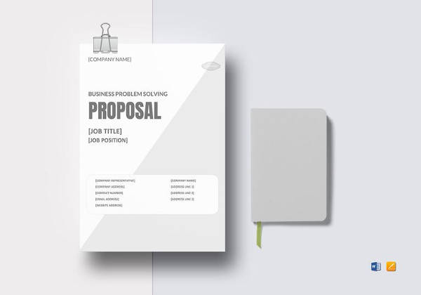 business problem solving proposal template