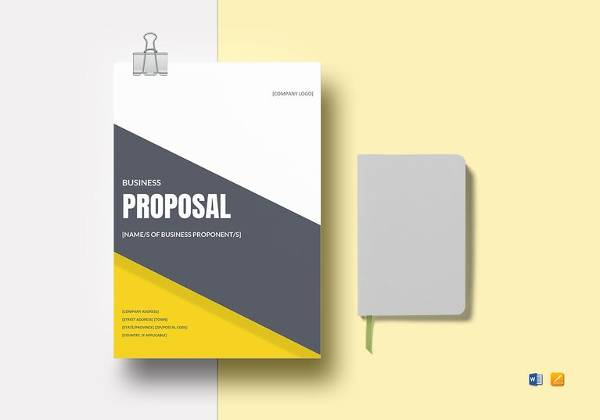 business proposal template word