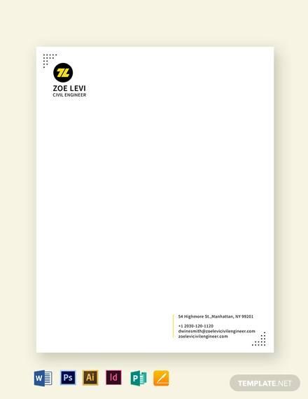 civil engineer letterhead template