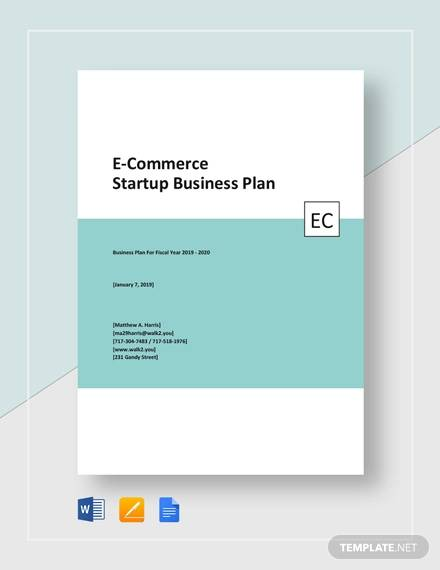 e commerce start up business plan template