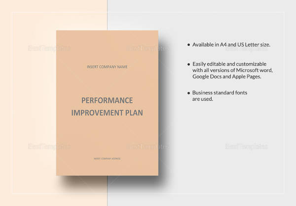 editable performance improvement plan template download