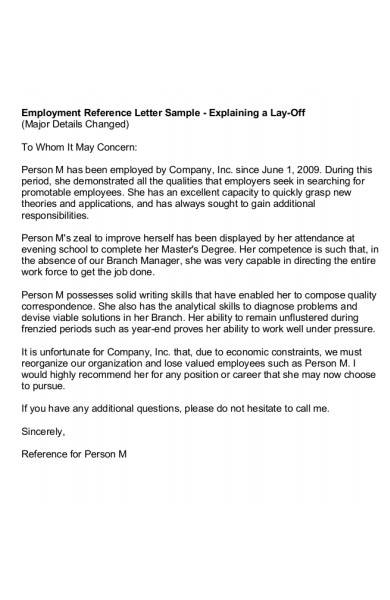 employment reference letter in pdf