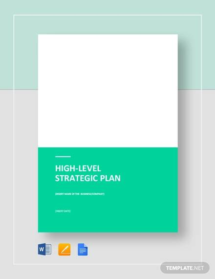 high level strategic plan template