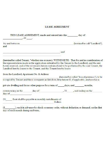 home lease agreement in ms word