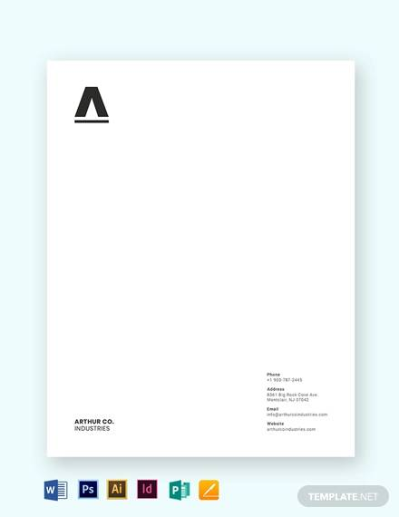 minimal business letterhead template