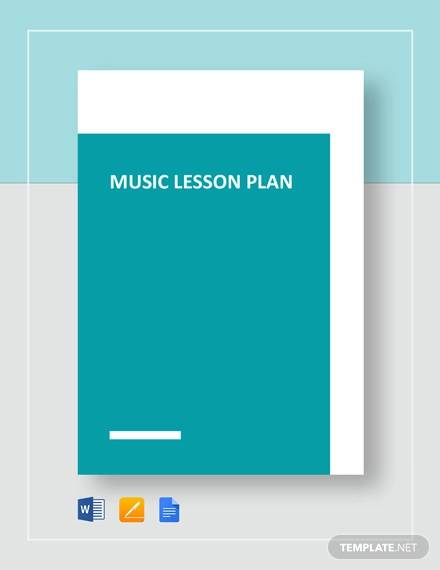 music lesson plan sample