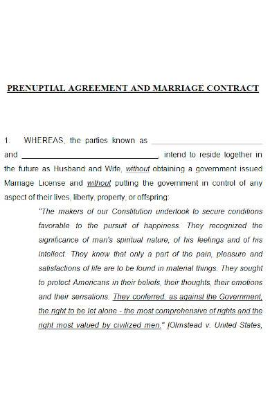 prenuptial agreement in ms word