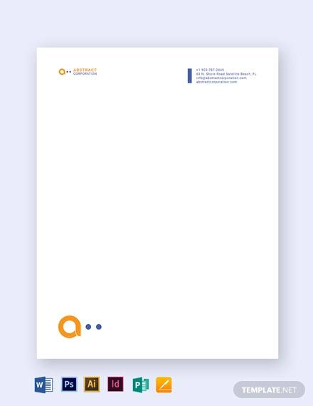 printable business letterhead template