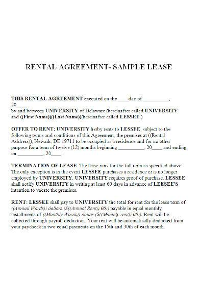 rental agreement in ms word