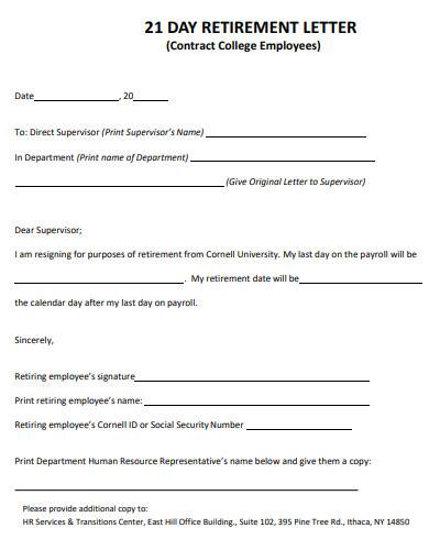retirement letter in pdf