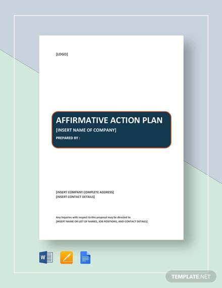 sample affirmative action plan1