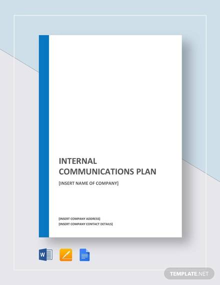 sample internal communications plan