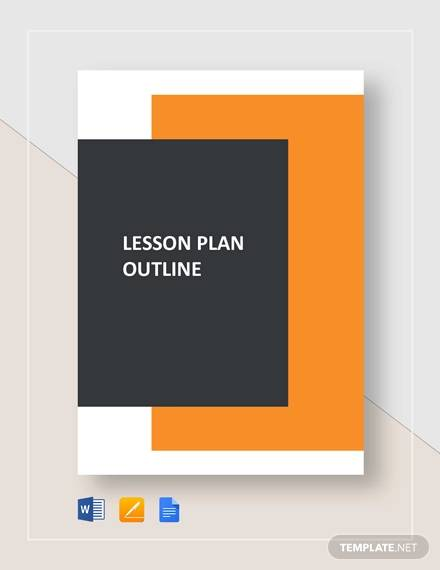 sample lesson plan outline template