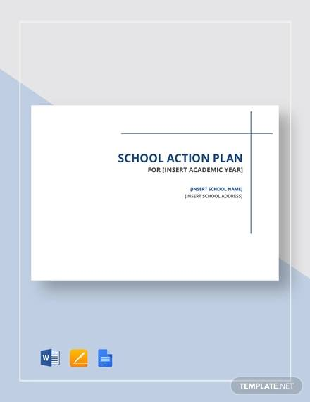 sample school action plan