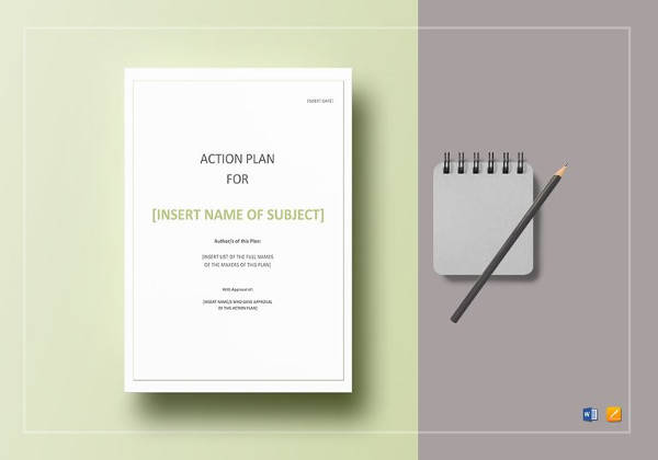 simple action plan in word