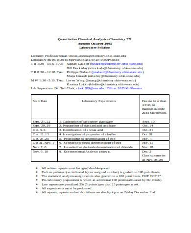 simple quantitative chemical analysis