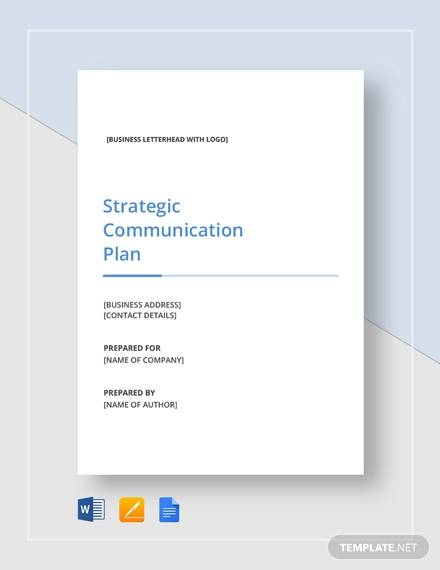 simple strategic communication plan template