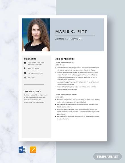 Sample Supervisor Resume - 15+ Download Free Documents in