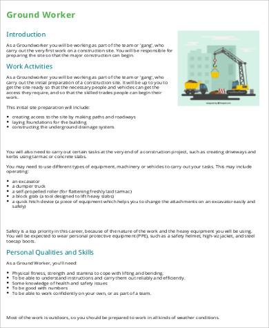 construction ground worker job description