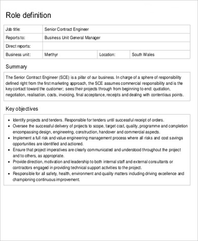 10 contractor job description samples sample templates - Construction office manager job description ...