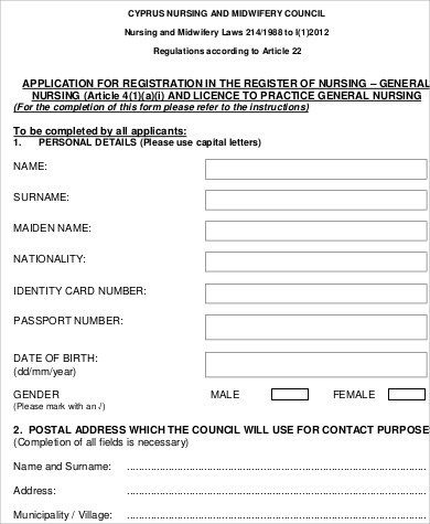 Sample General Application Form   Examples In Word Pdf